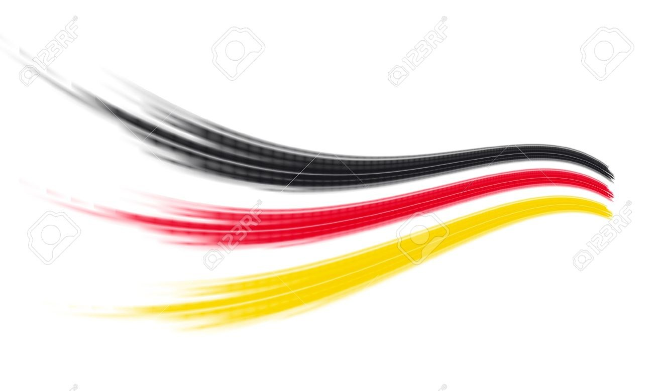 black, red, yellow (German flag) stripes