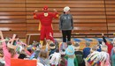 Zero the Hero helps celebrate 100th Day at McFall.