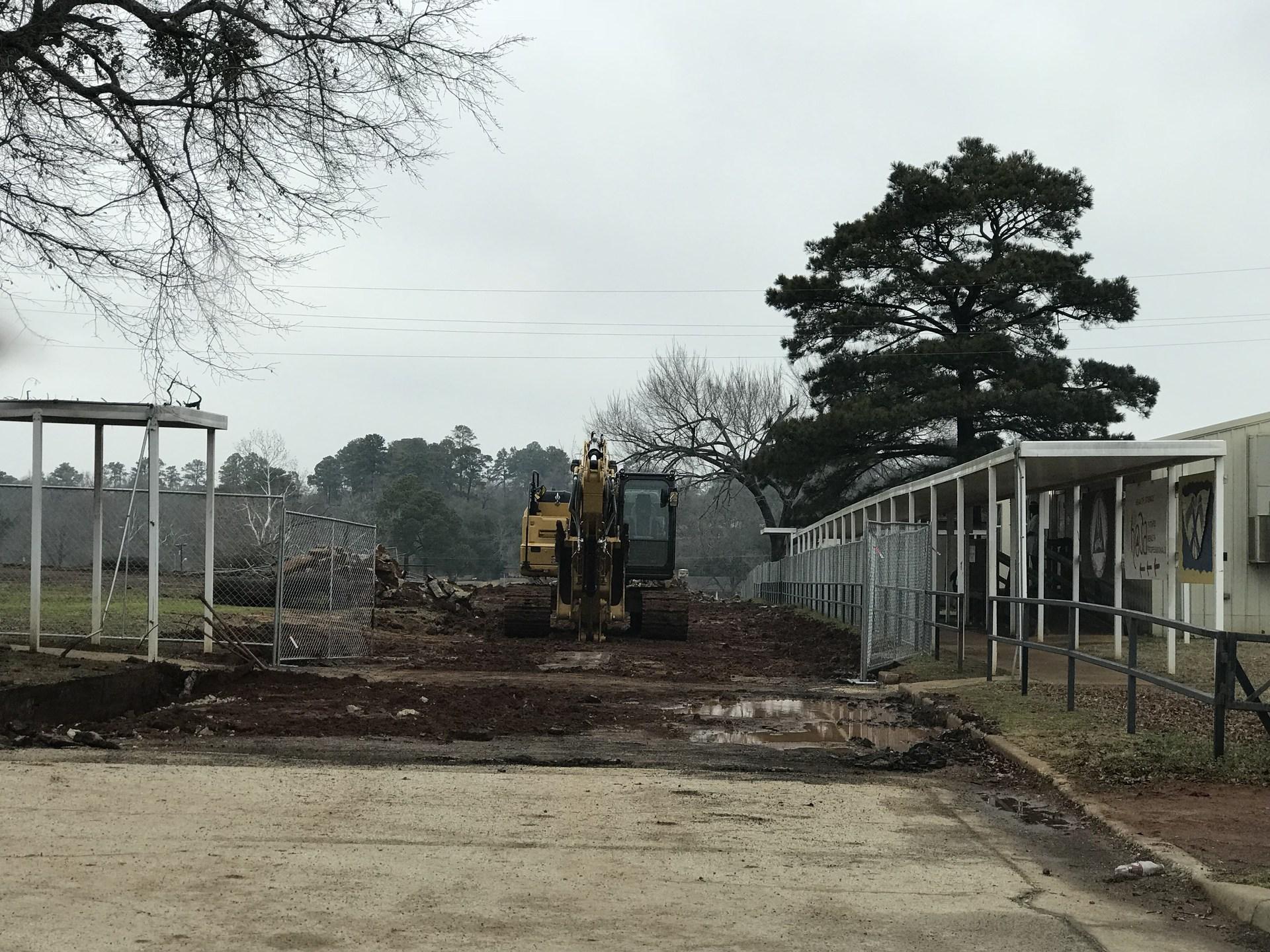 Dirt work at career & tech building