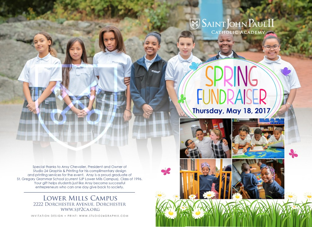 Spring Fundraiser Invitation Cover