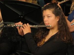 Senior drum major Madison Craven was honored.