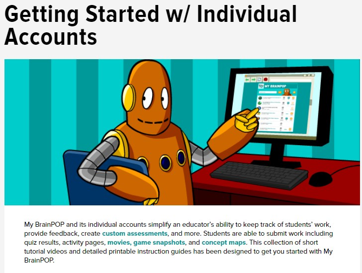 Brainpop individual accounts