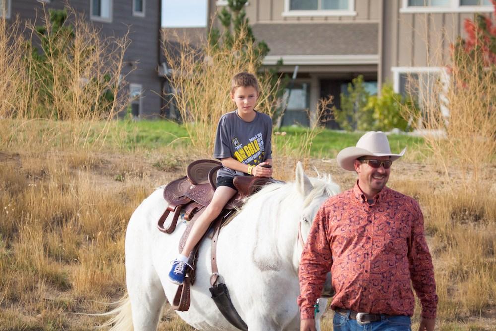 PRA Student riding horse