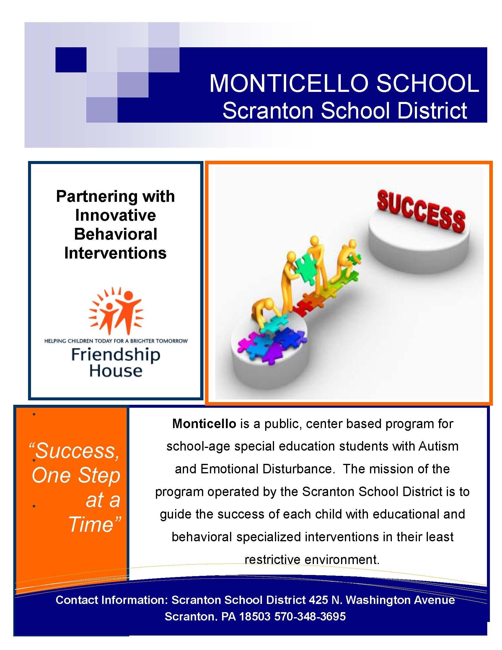About Monticello School Scranton School District
