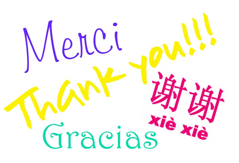thank you in multiple languages