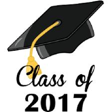 Class of 2017 graduation cap.