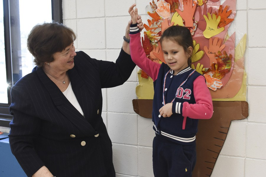 Presenting 'Olympic Medal' to student during our Winter Olympics