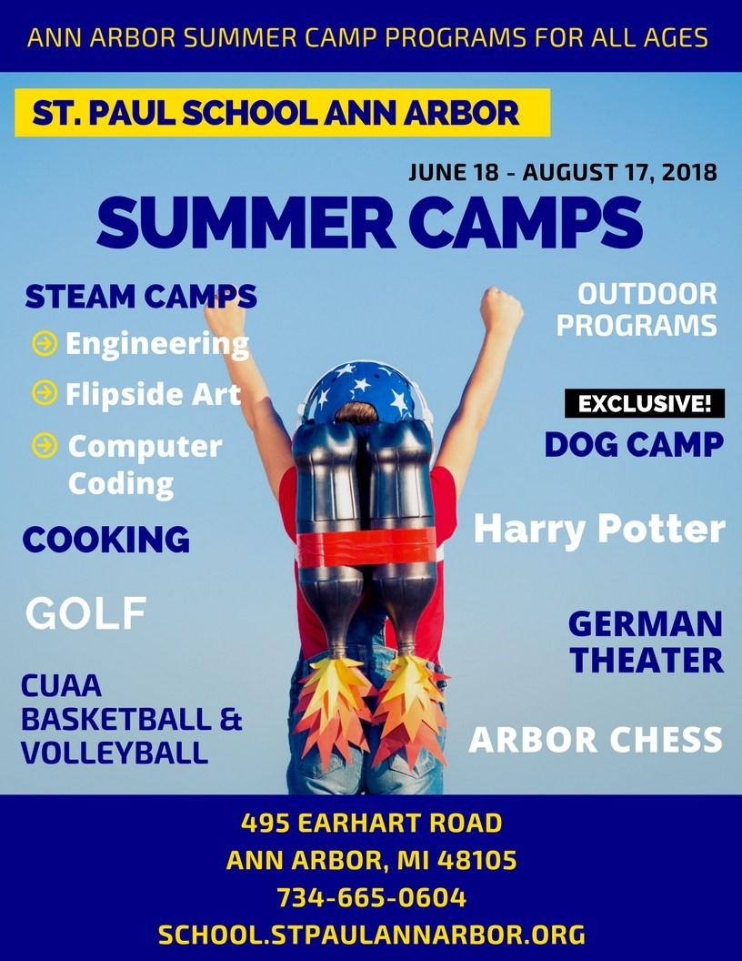 Summer Camps 2018 - Clubs and Activities - St Paul Lutheran School