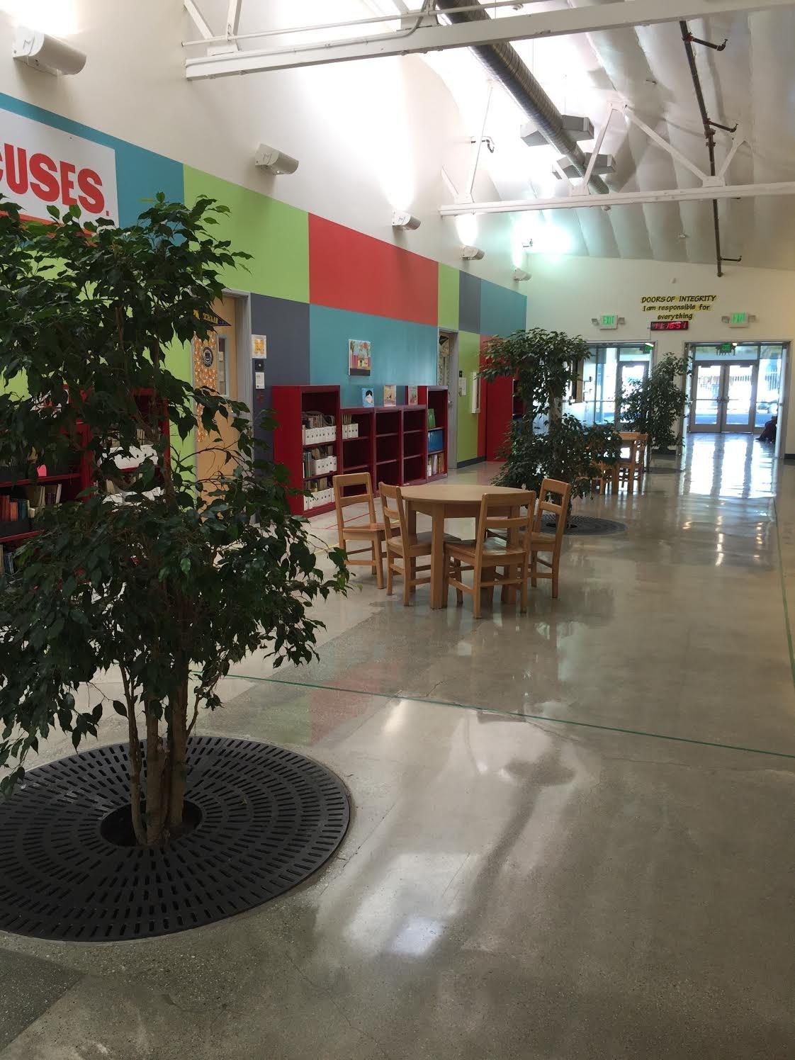 Image of the atrium at the flagship campus.