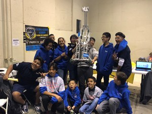 BPUSD_HOLLAND_ROBOTICS_1-3: Holland Middle School's fledgling robotics team is advancing to the VEX Robotics World Championships after scoring a series of come-from-behind victories to finish second in the state finals.