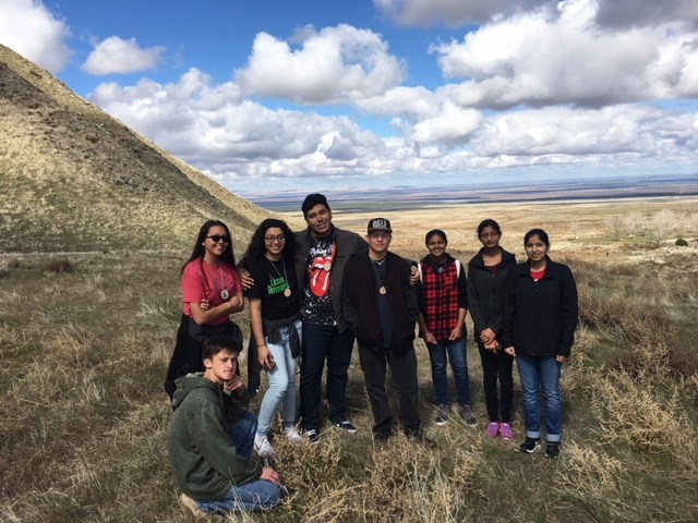 The GVHS PAL enjoying a day in nature at the Wind Wolves Preserve.