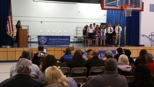 Students take NJHS oath.jpg