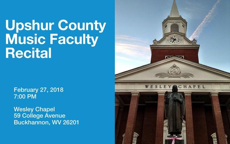 Upshur Schools Music Faculty Recital 2/27/18 at Wesley Chapel