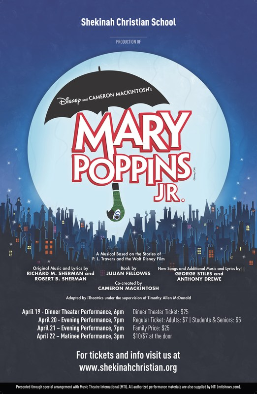 Mary Poppins, Jr. - Tickets for Sale! Thumbnail Image