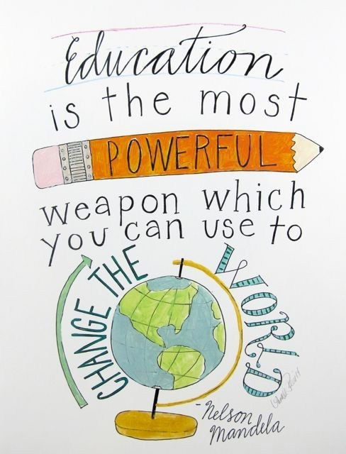 Education is powerful weapon