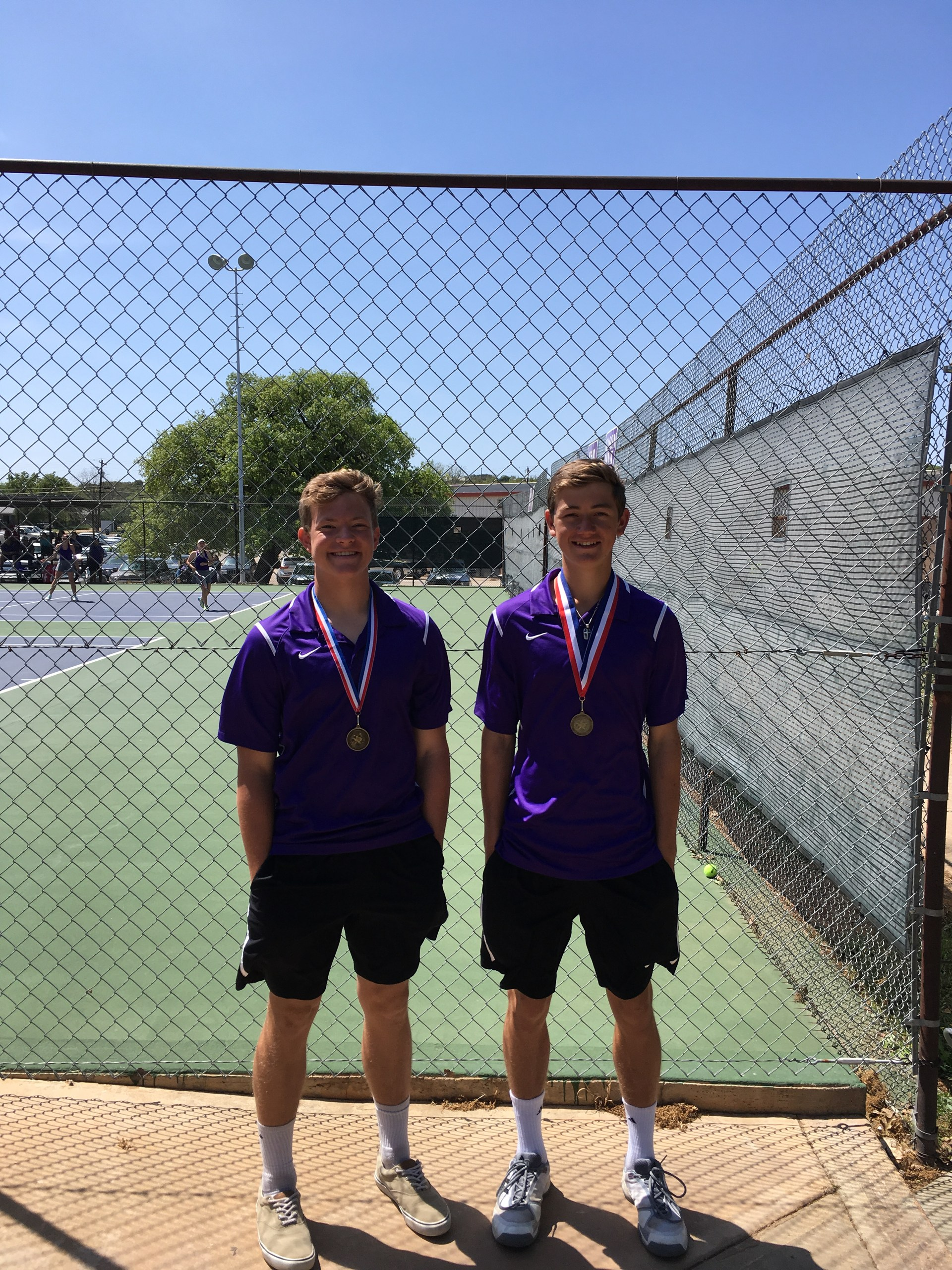 John Benefield & Whitt Bierschwale - JV Boys Doubles Champs