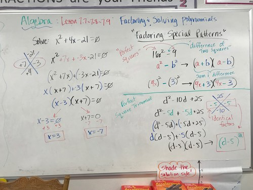 Algebra Notes Tuesday March 6