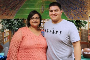 Pictured is Alex De Leon (VMHS senior) and his mom, Esmeralda De Leon.