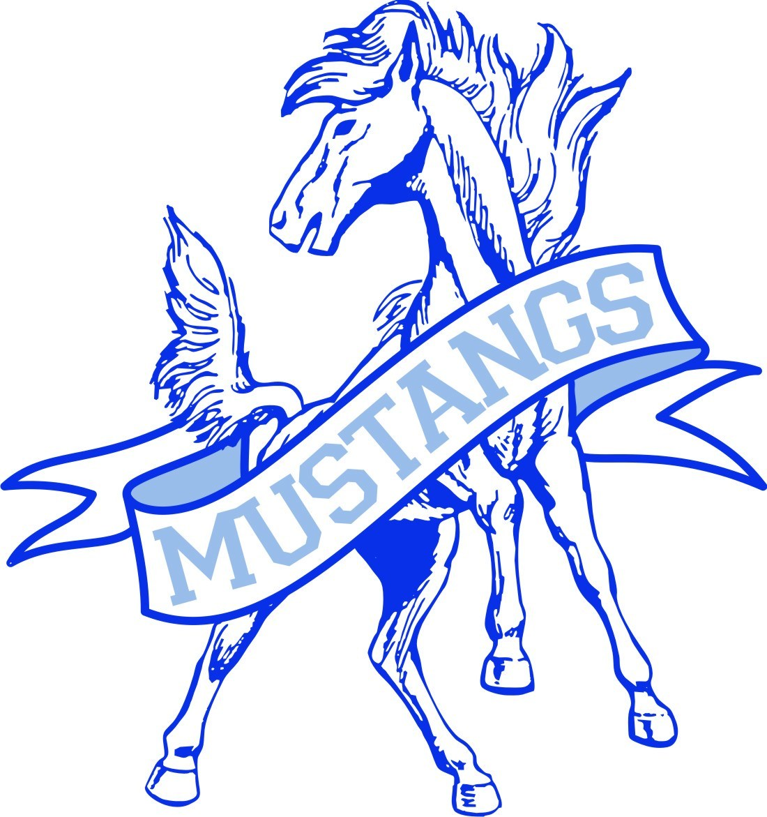 mission valley elementary logo, a mustang