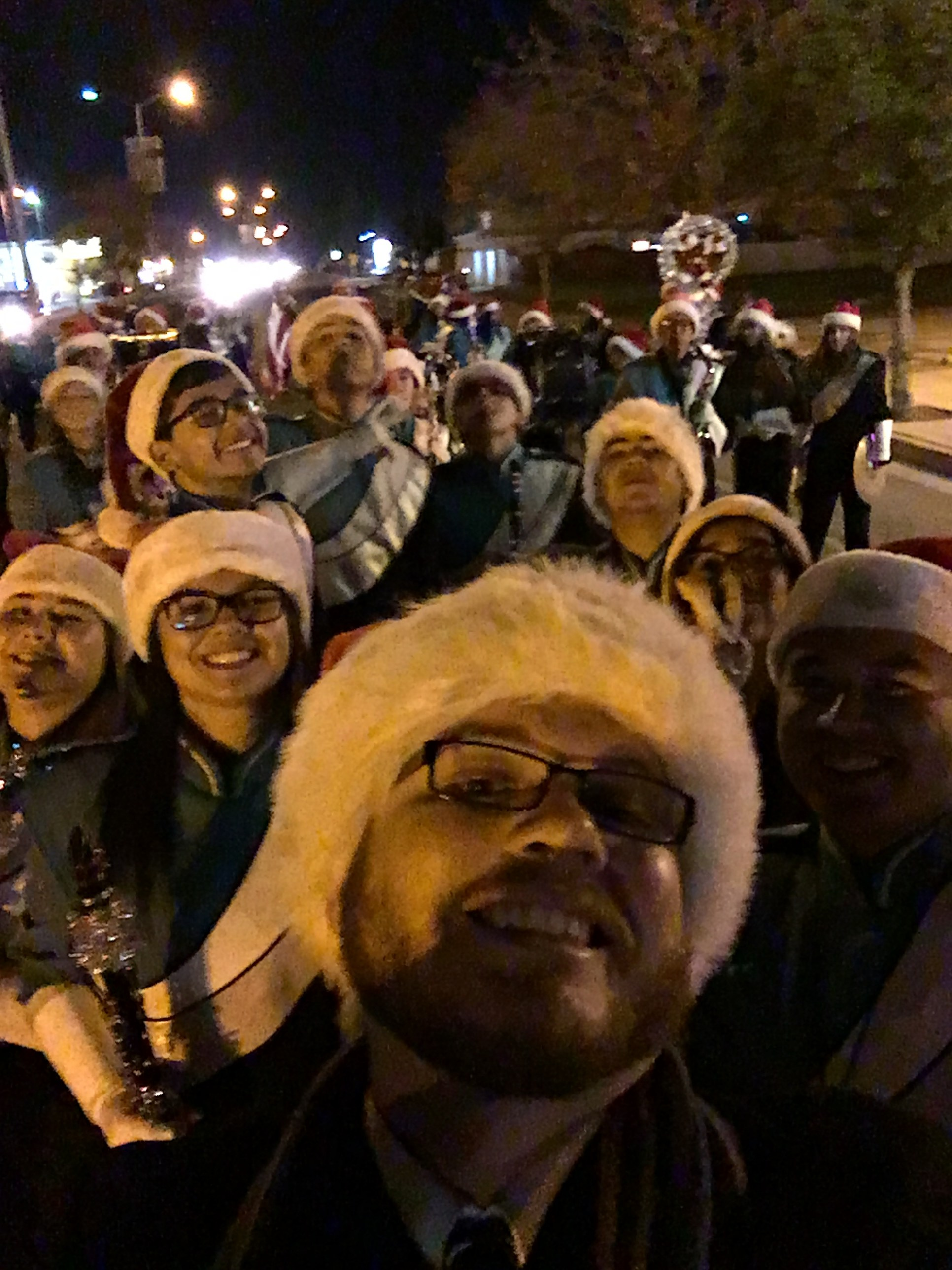 Winter Parade Band Selfie