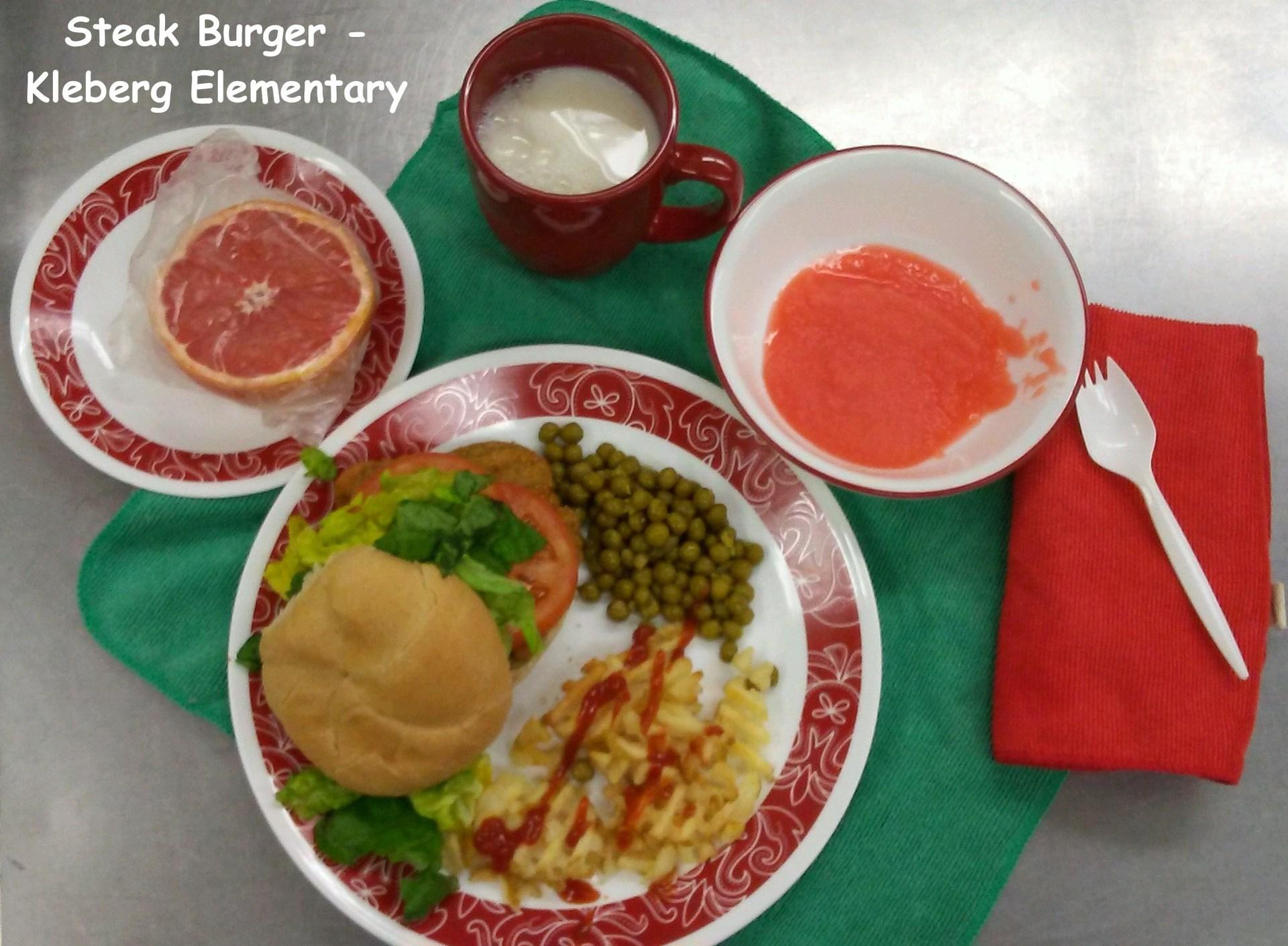Steak Burger Image - Kleberg Elementary