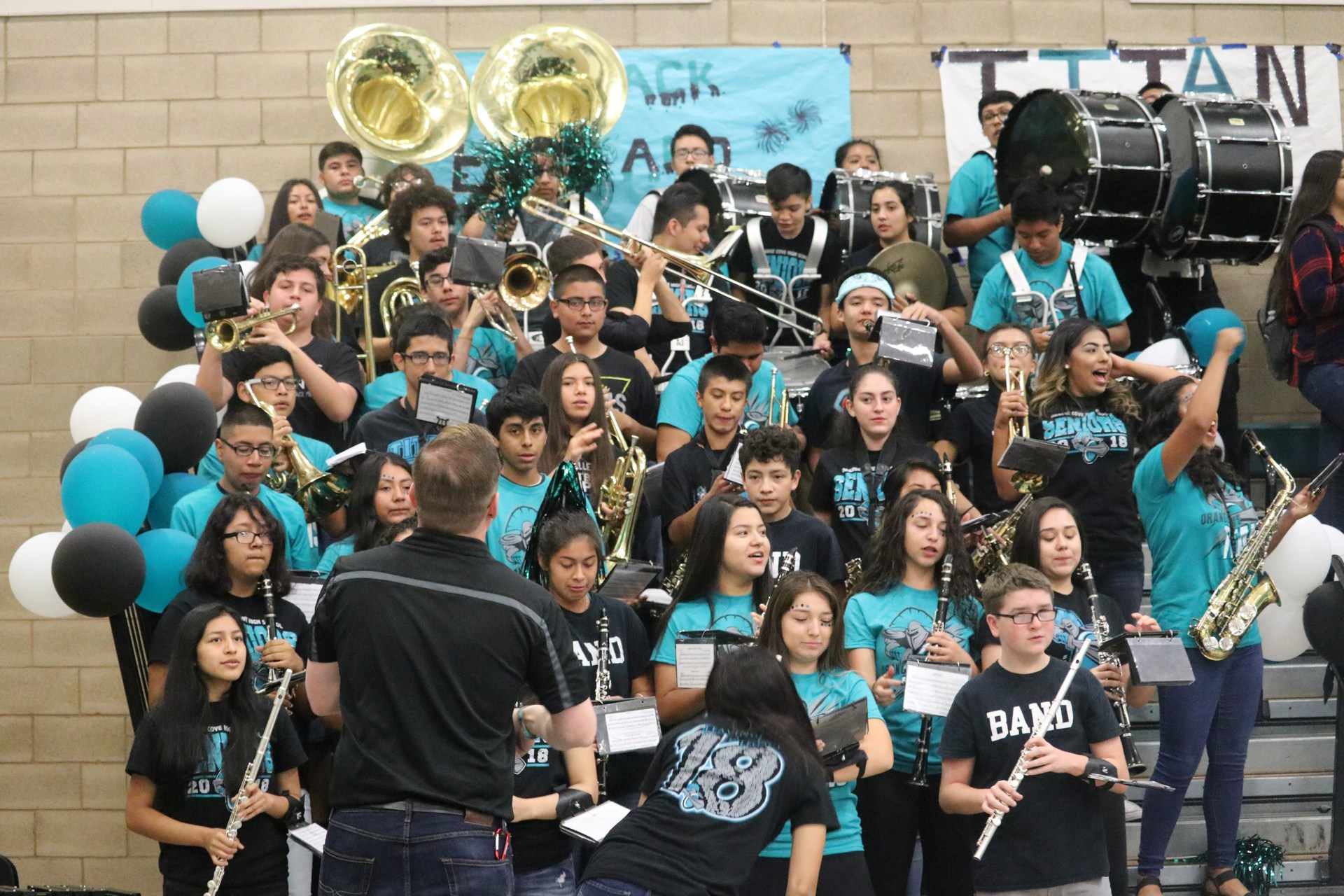 OCHS Band at a Rally