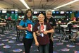 Pictured are Diana Cremar, Adrian Rodriguez, and Mrs. Minnie Rodgers, Board Member at Incredibowl in Mission, Texas.