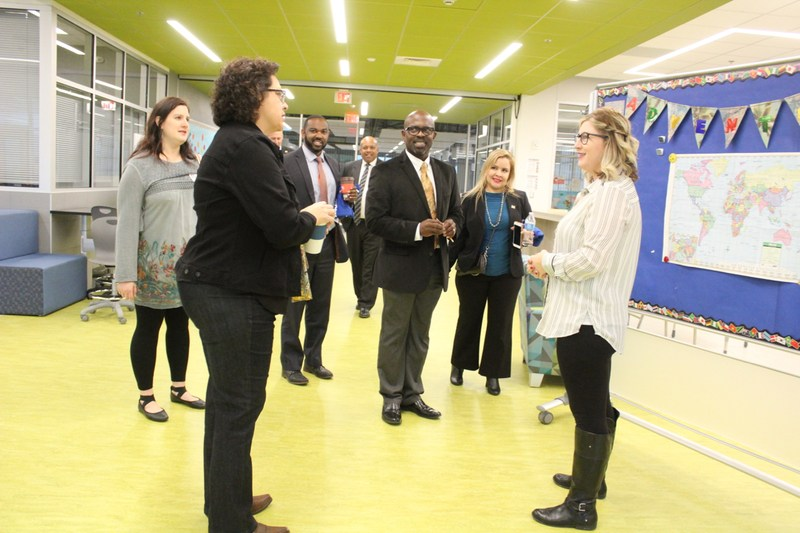 Texas State Rep. Celia Israel Visits Manor New Tech Middle School Thumbnail Image