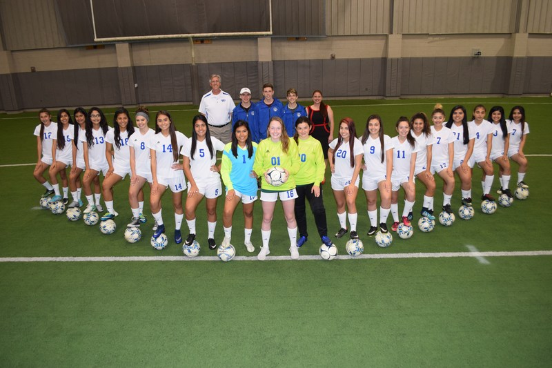QISD Girls Soccer Team and Coaches