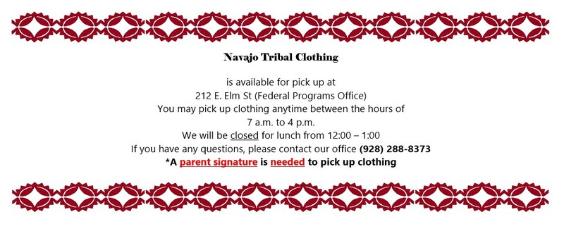 Tribal Clothing is ready for pick up! Featured Photo