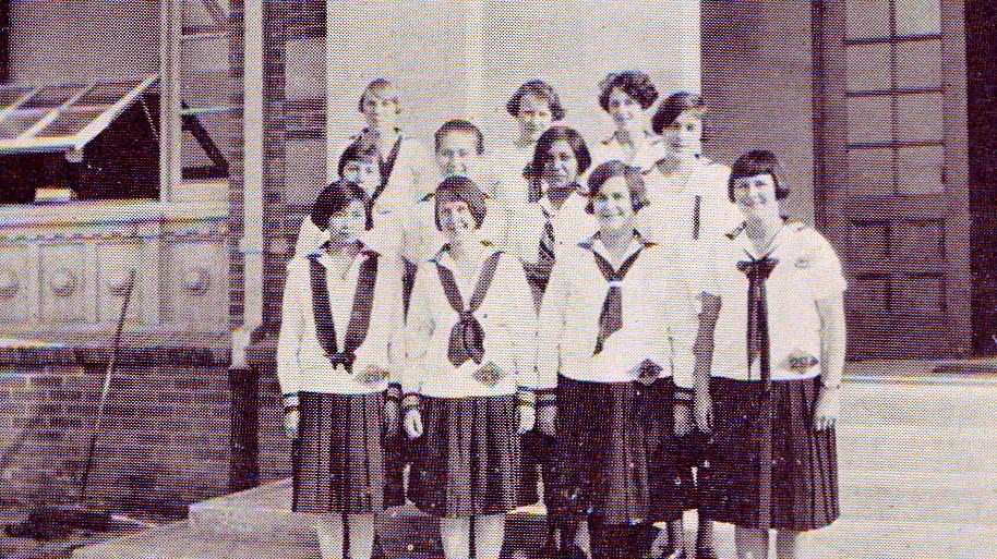 Girls were required to wear uniforms
