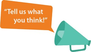 Tell us what you think coming out of a megaphone