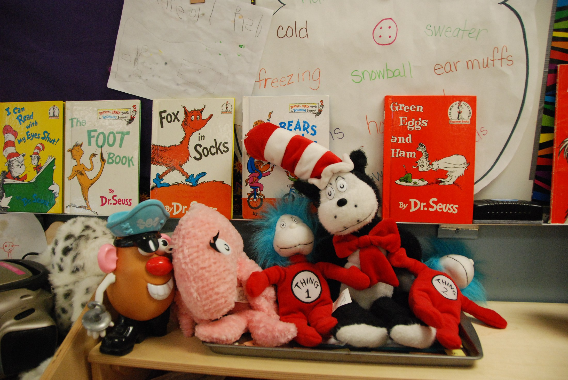 Dr. Seuss display, Aspire PreK