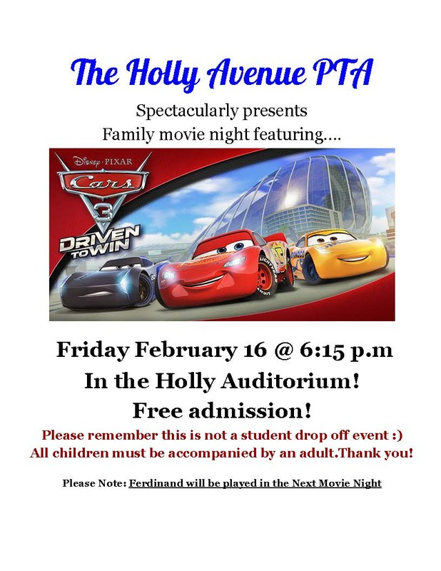 Cars 3 Movie Flyer