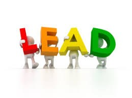 "Clipart that spells out the word ""Lead"""