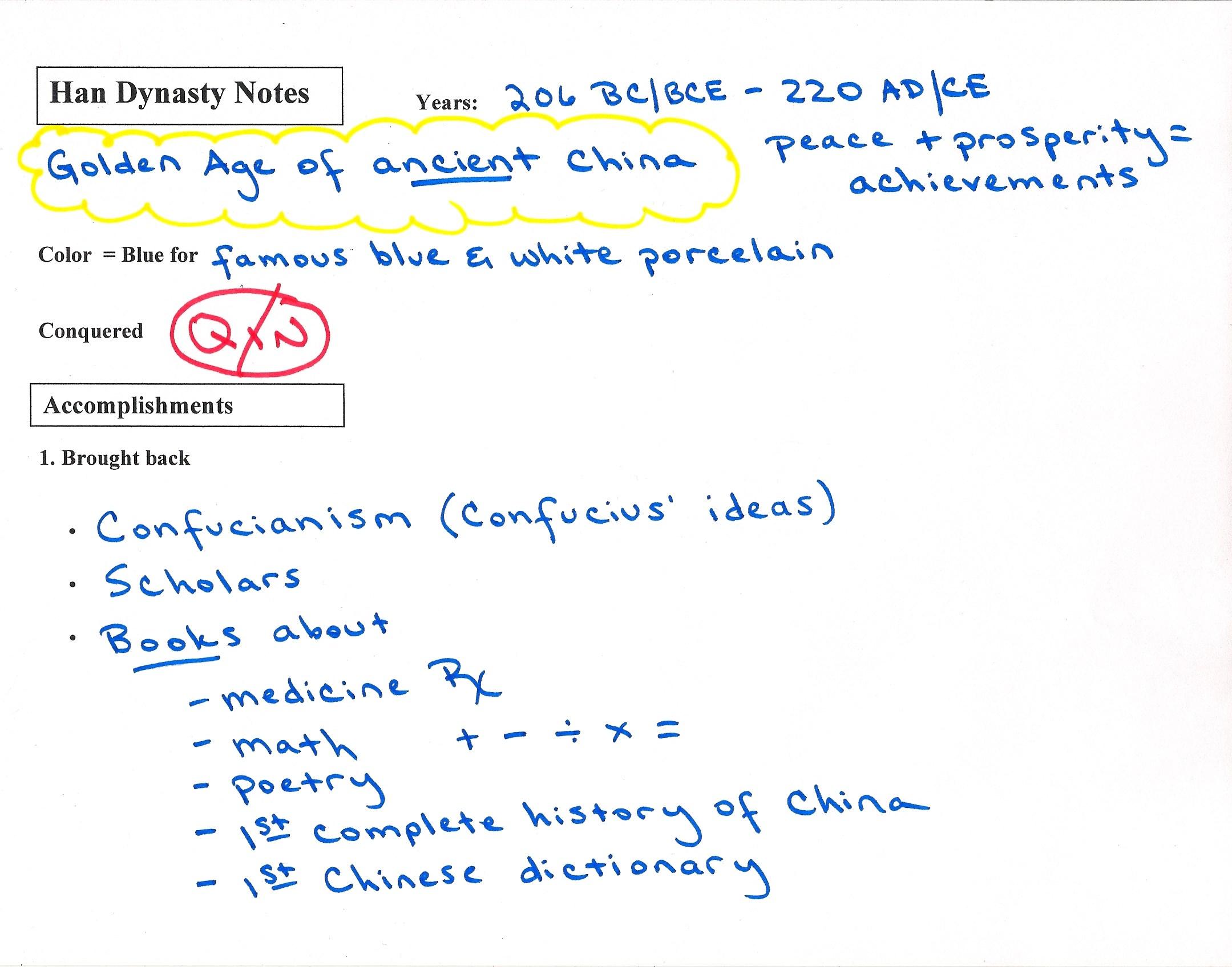 worksheet Troy Movie Worksheet culver city middle school han dynasty notes front jpg