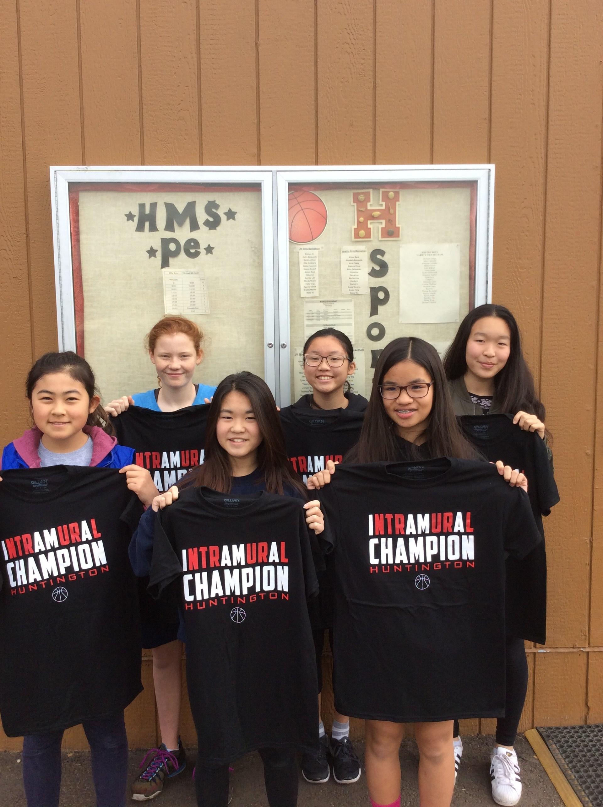 Girls Intramural Basketball Champion