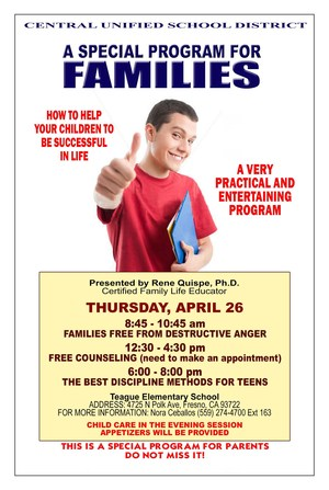 Families Program Flier