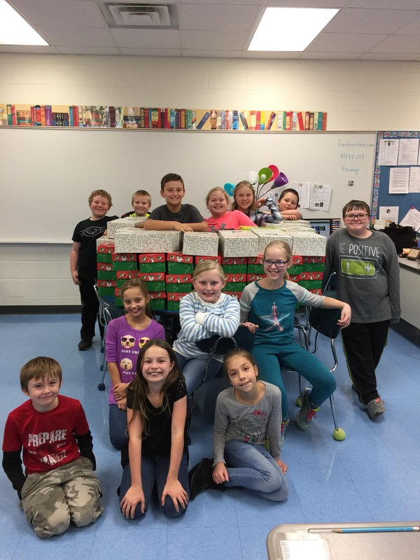 SFES packs 125 boxes for Operation Christmas Child! Thumbnail Image