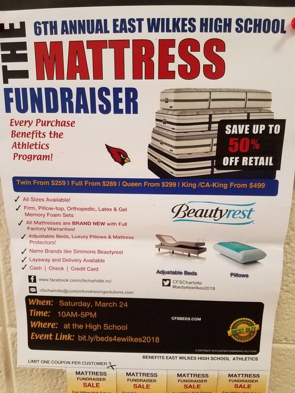Mattress Fundraiser, March 24th Thumbnail Image