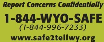 Wyoming Safe To Tell Phone Number 1-844-996-7233