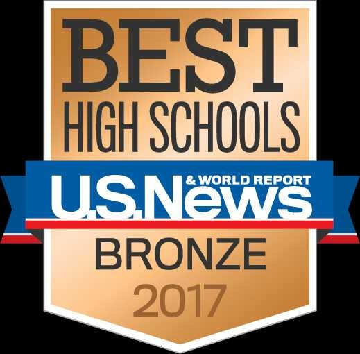 Picture of the US News and World Report Bronze Badge for JHS