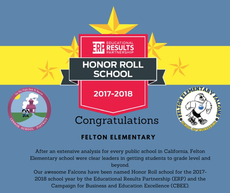 felton school honor roll 2017-2018