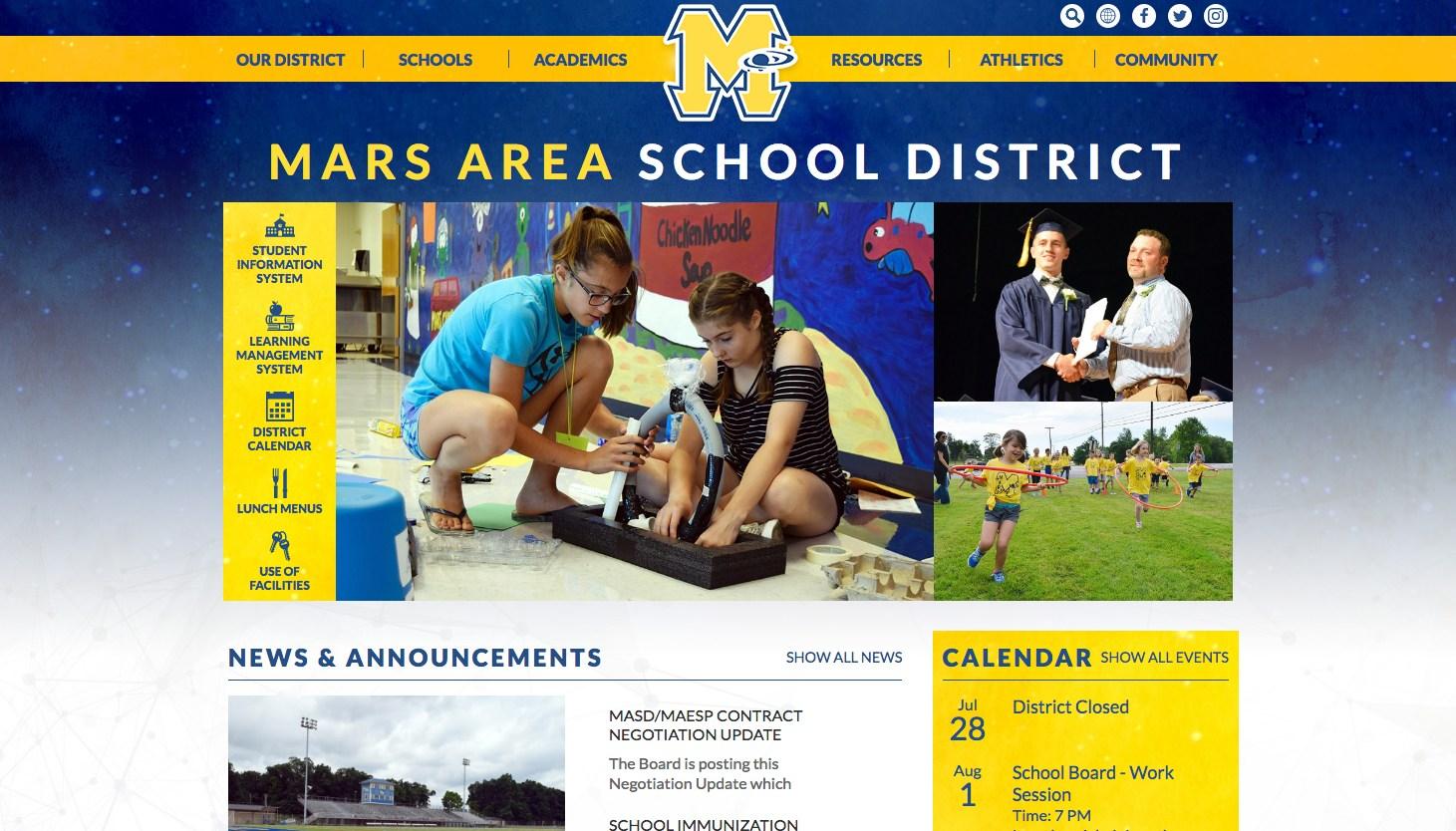 mars area example good school websites