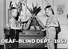 #ThrowbackThursday: Deaf Blind Department 1957