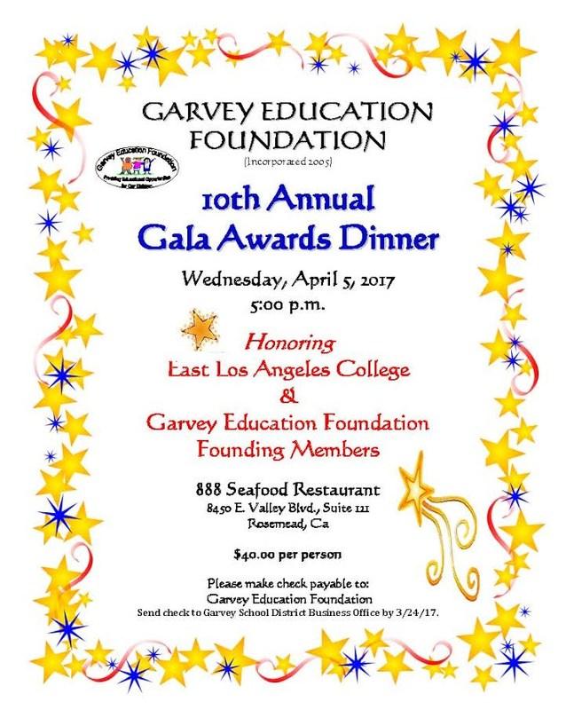 Garvey Education Foundation Gala Awards Diner Thumbnail Image