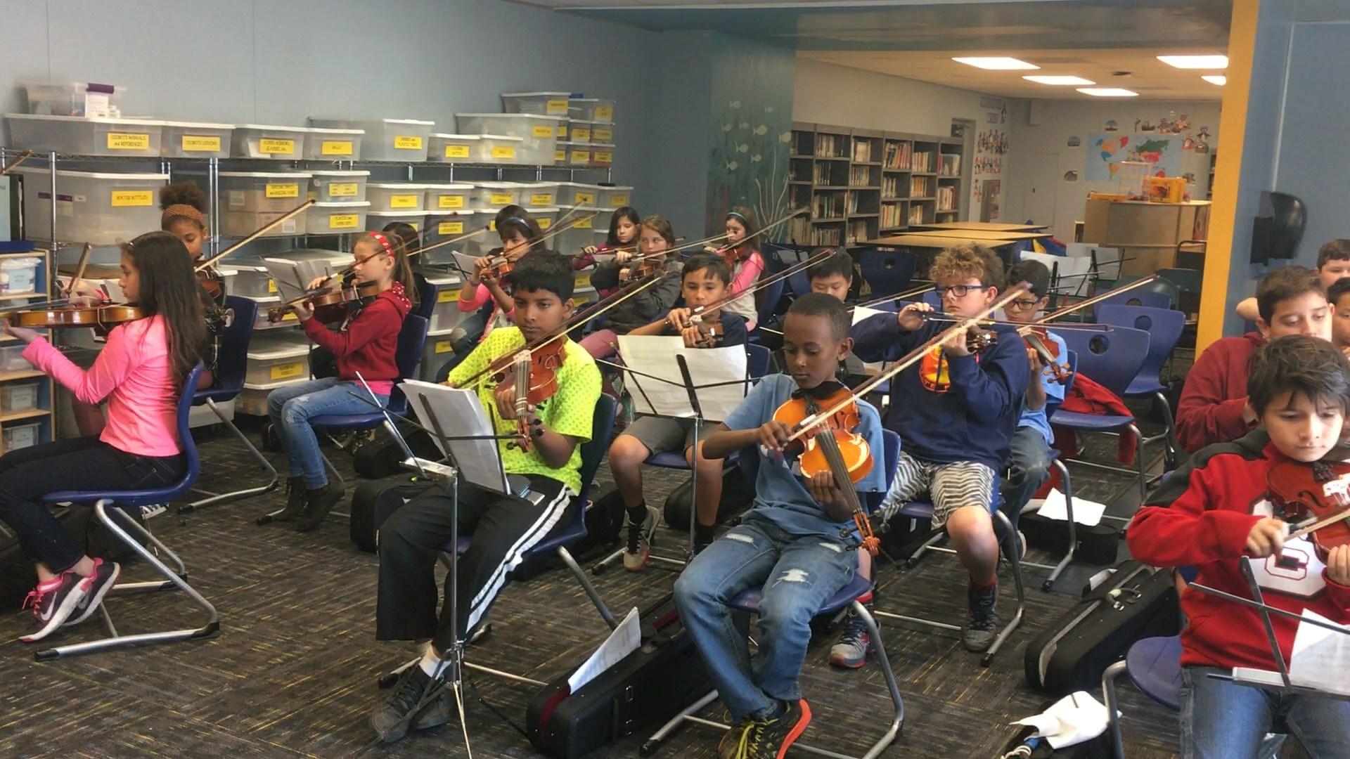Strings rehearsal