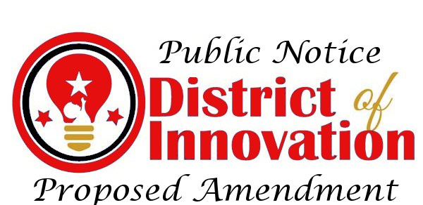 Lightbulb with Public Notice District of Innovation text