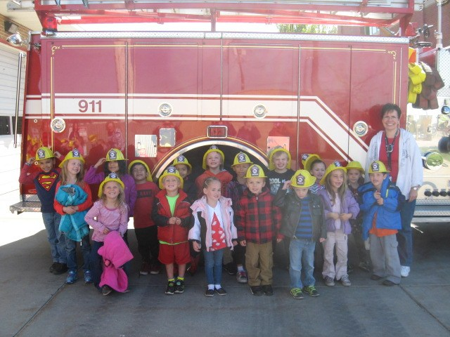 class at the fire station