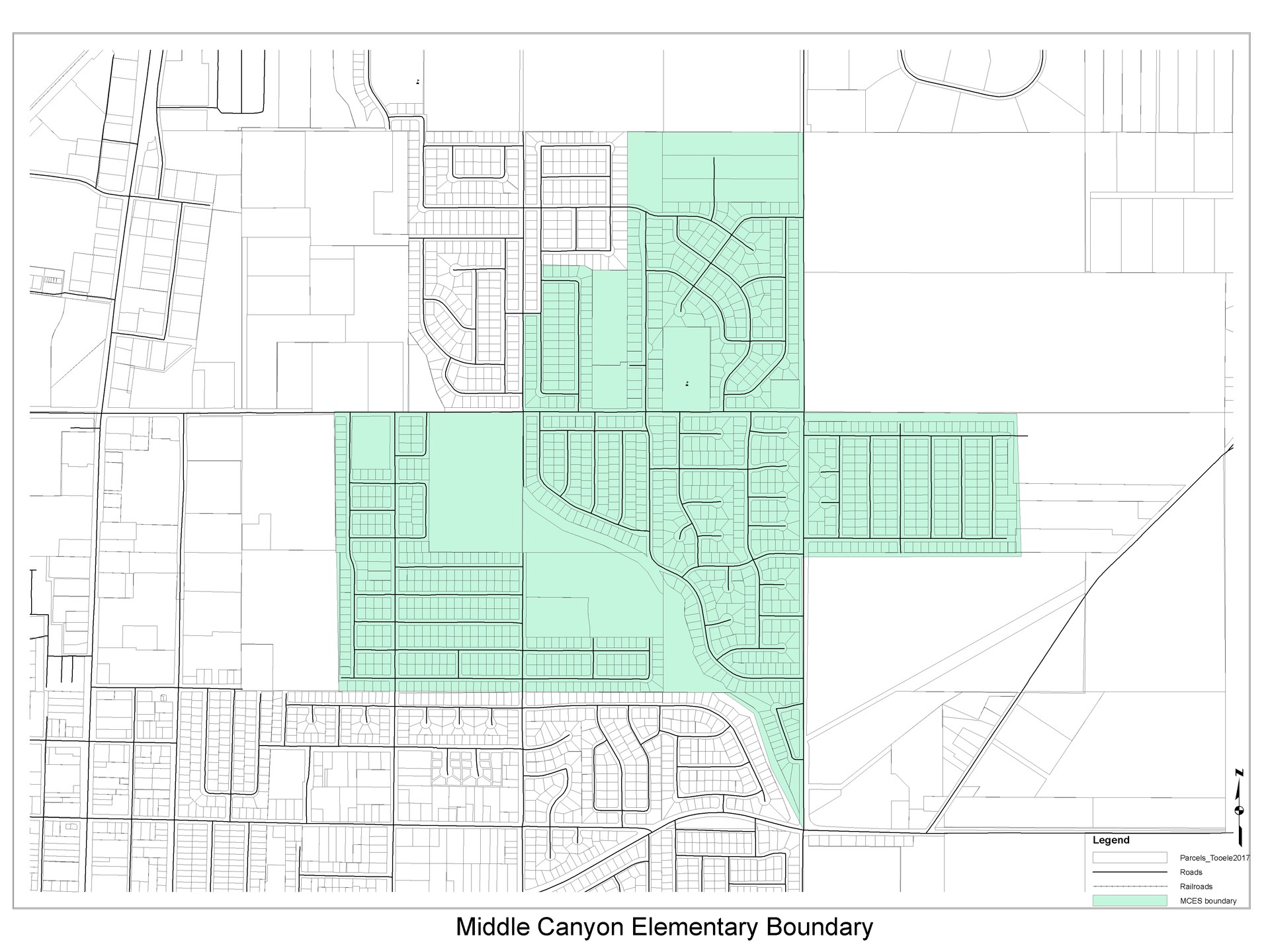 Middle Canyon Elementary Boundary